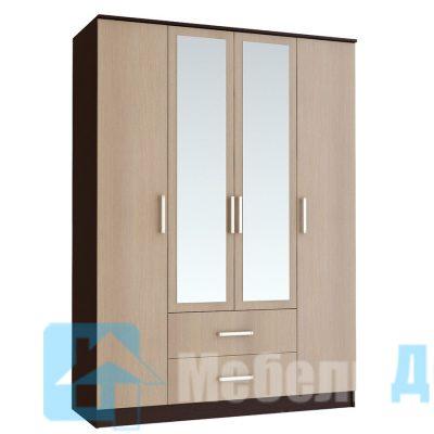 Шкаф 4-х створчатый «Фиеста» (б)