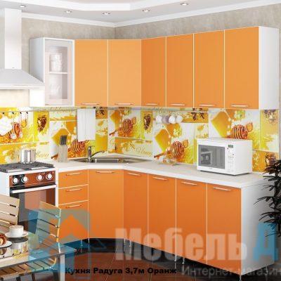 Кухня Радуга угловая Оранж   (р)