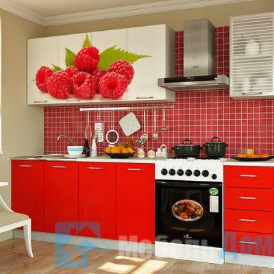 Кухня Малина фотопечать ЛДСП 2 м   (м)