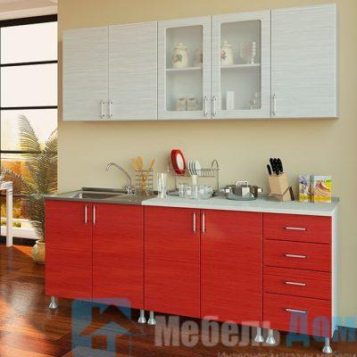 Кухня Микс Красный 2 м   (м)
