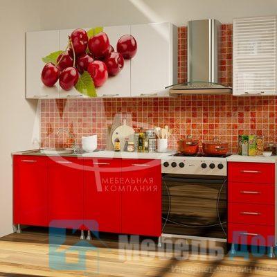 Кухня Вишня фотопечать ЛДСП 2 м   (м)