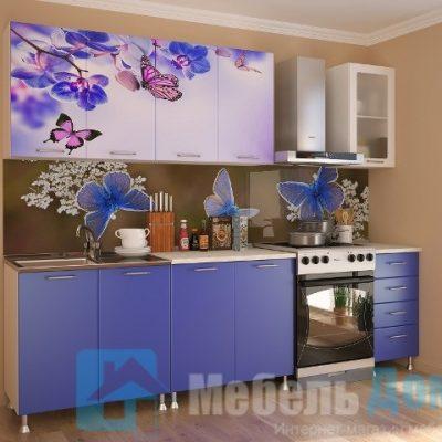 Кухня Бабочки фотопечать ЛДСП 2 м   (м)