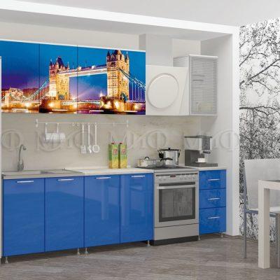 Кухня Лондон-1 фотопечать МДФ 2 м   (м)