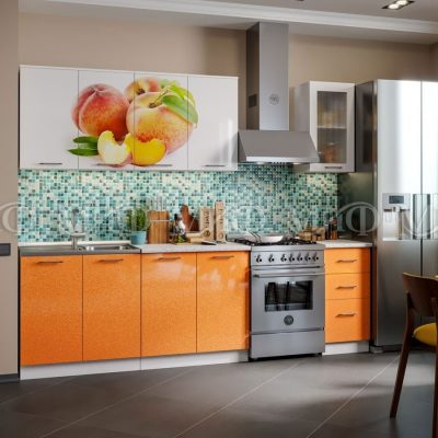 Кухня Персик фотопечать МДФ 2 м   (м)