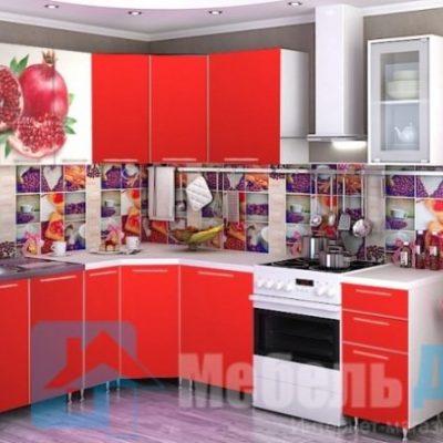 Кухня Гранат угловая   (р)