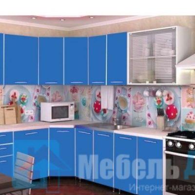 Кухня Радуга угловая синий   (р)