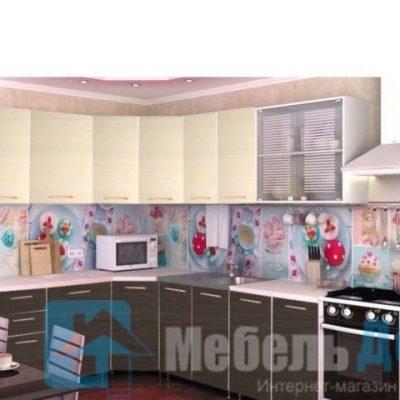 Кухня Радуга угловая венге/дуб   (р)