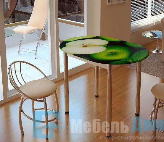 Обеденный стол Зеленое яблоко (б)