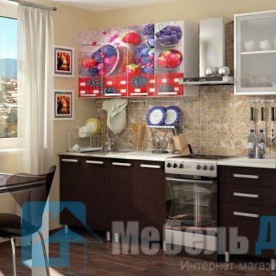 Кухня Ягода фотопечать ЛДСП 1,8 м   (б)