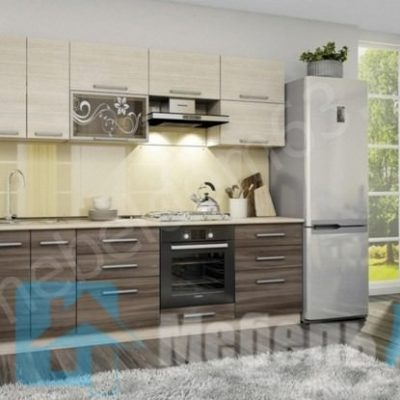 Кухня «Оливия» 2,4 м. вариант 1 (л)