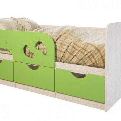 Кровать детская «Минима» лайм глянец (б)