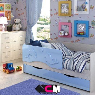 Кровать «Алиса» Голубой (см)