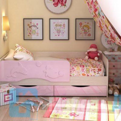 Кровать детская «Алиса» Розовый (см)