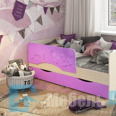 Кровать «Алиса» Сиреневый (см)
