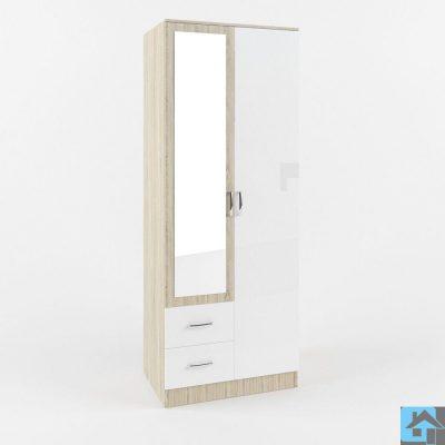 «Софи» Шкаф 2-х створчатый с зеркалом и ящиками СШК 800.3 (д)