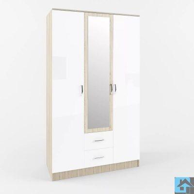 «Софи» Шкаф 3-х створчатый с зеркалом и ящиками СШК 1200 (д)