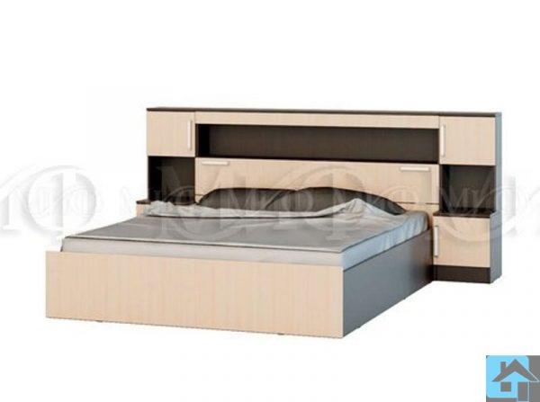 """Кровать с надстройкой с тумбами """"Бася"""" (м)"""