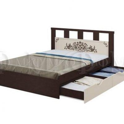 Кровать 1,6м с ящиками Жасмин (м)