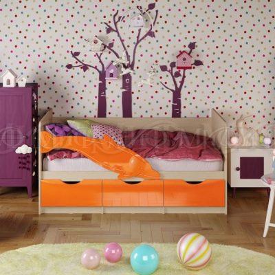 Кровать «Дельфин-1» Оранжевый металлик (м)
