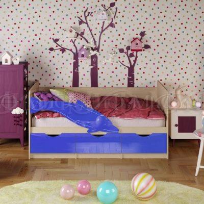 Кровать «Дельфин-1» Синий (м)