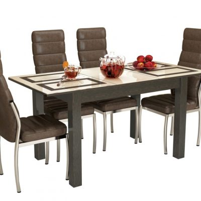 Стол обеденный раскладной Бруно 1,2 м. Плитка (т)