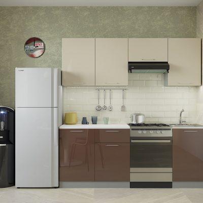 Кухня «Олива» МДФ верх белый глянец 2,1 м. (иц)
