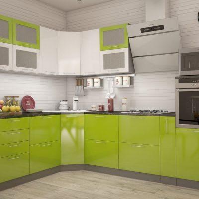 Кухонный гарнитур угловой 2,31м*2,85м «Олива» (иц)