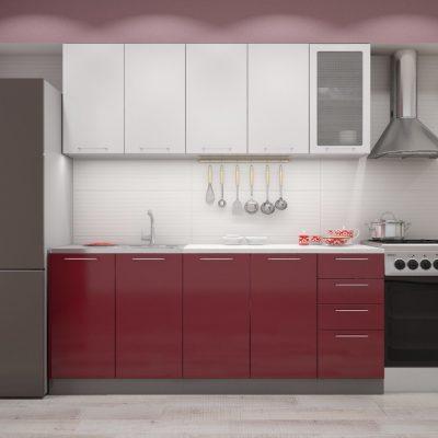 Кухня «Олива» МДФ комбинированная 2,0 м. (иц)