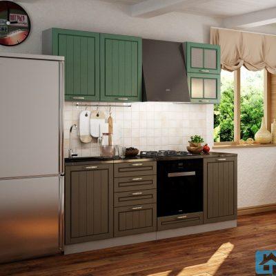 Кухонный гарнитур Лондон 2,10м дуб изумруд (иц)
