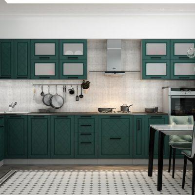 Кухонный гарнитур угловой 4,0*1,6 м «Барселона» (иц)