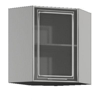 Шкаф угловой со стеклом ШВУС-550*550 (иц)