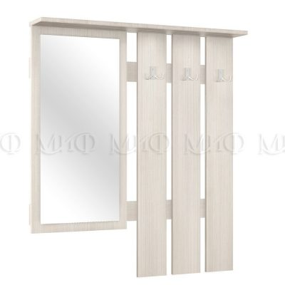 Зеркало с вешалкой «Белла» сандал (м)