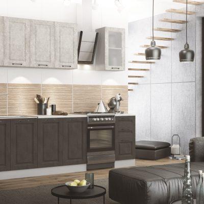 Модульная кухня «Капри» 2000 мм №2. (Д)