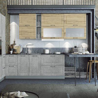 Модульная кухня «Капри» угловая 1 (Д)
