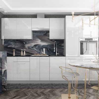 Модульная кухня «Капля» 3100 мм. (Д)