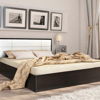Кровать 1,6 арт.002 Вставка 1 с настилом (ДЛ)