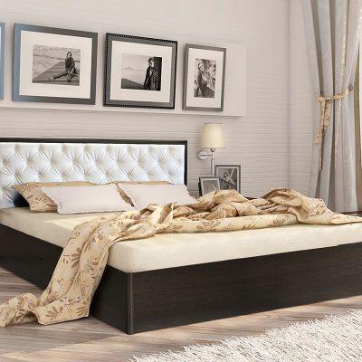 Кровать 1,6 арт.002 Вставка 2 с настилом (ДЛ)