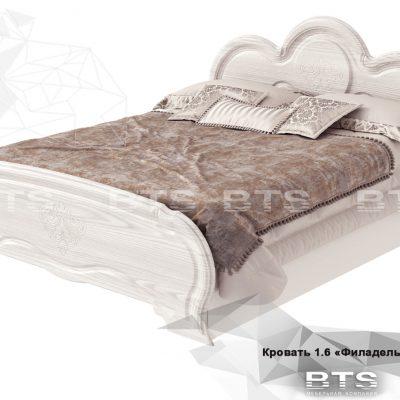 «Филадельфия» Кровать 1,6 настил ЛДСП КР-03 (б)