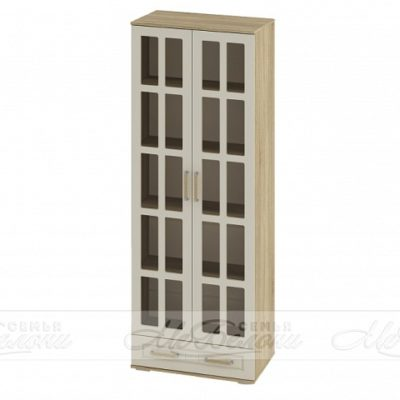 «Маркиза» Шкаф 2-х створчатый со стеклом ШК-03 (б)