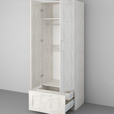 «Аллегро-9» Шкаф 2-х створчатый ЛОФТ (дл)