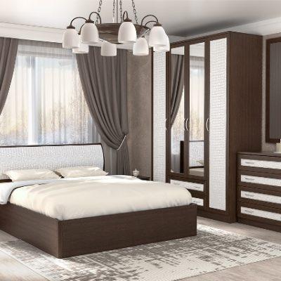 Спальня «Кэт-1» Кайман белый композиция 2 (дл)