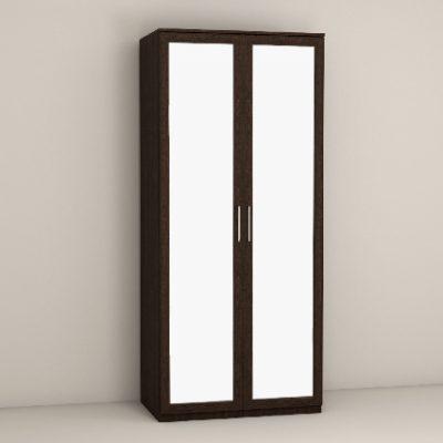 «Кэт-4» Шкаф 2-х створчатый с зеркалом (дл)