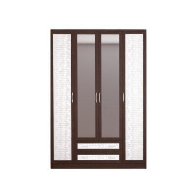 «Кэт-1» Шкаф 4-х створчатый Кайман белый VR-05 (дл)