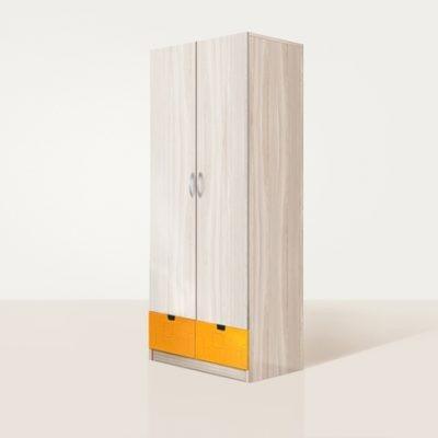 «Бриз» Шкаф 2-х створчатый МДФ квадрат Оранж (дл)