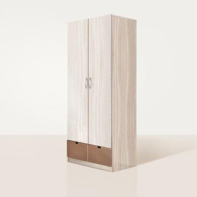 «Бриз» Шкаф 2-х створчатый МДФ квадрат Шоколад (дл)