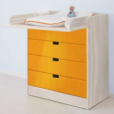 «Бриз» Пеленальный стол МДФ квадрат Оранж (дл)