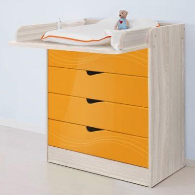 «Бриз» Пеленальный стол МДФ волна Оранж (дл)