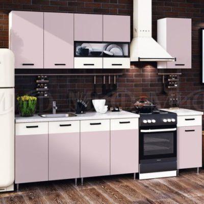 Кухня «Рио» 1,8 м. розовая (м)