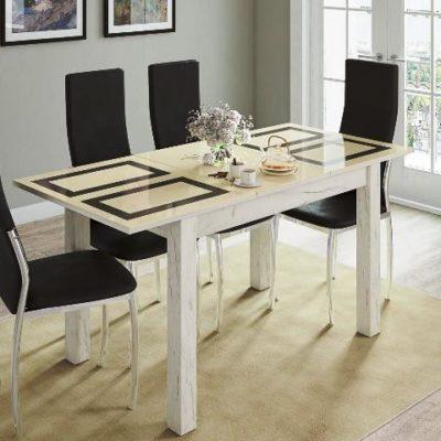 Стол обеденный «Бруно» дуб крафт/рисунок «Плитка» (т)