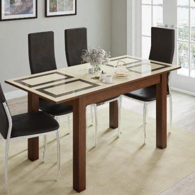 Стол обеденный «Бруно» орех/рисунок «Плитка» (т)